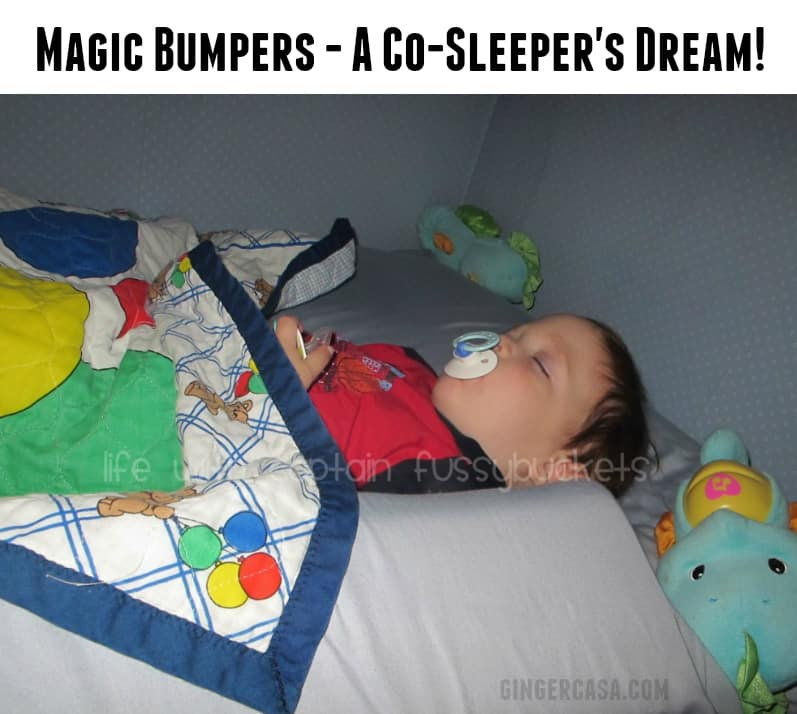co-sleeping with infant and magic bumpers