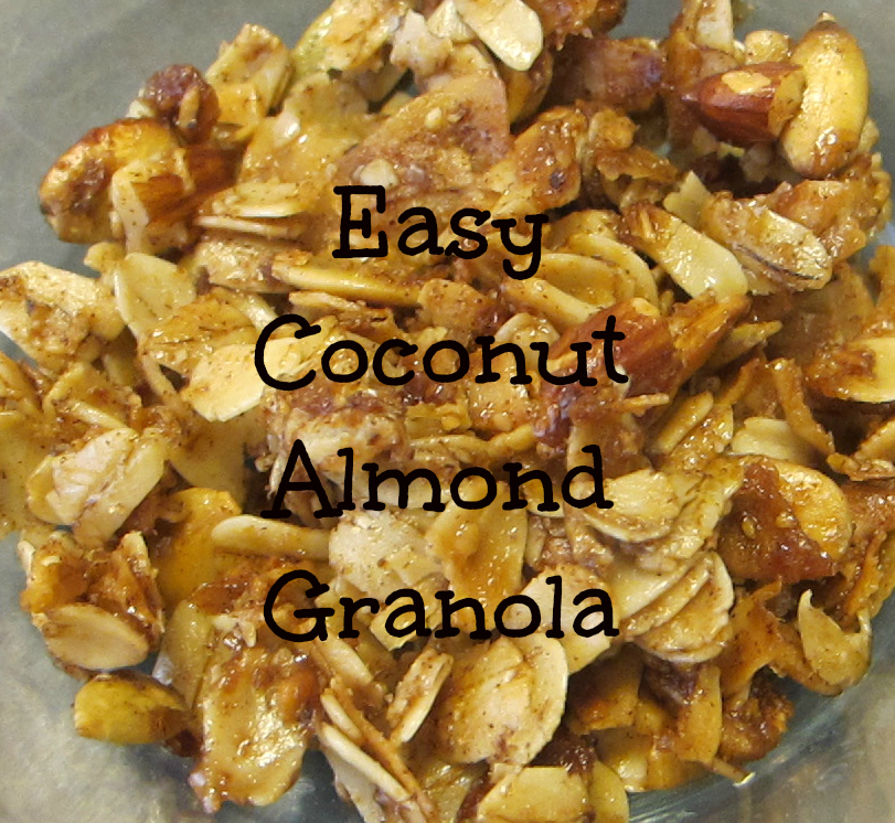 Easy Coconut Almond Granola Recipe - Life with Captain Fussybuckets