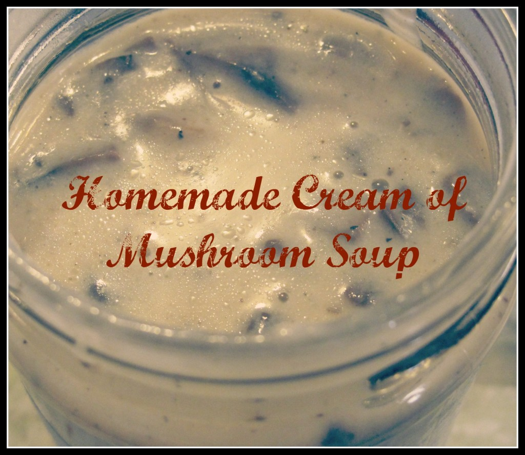 homemade cream of musrhoom soup