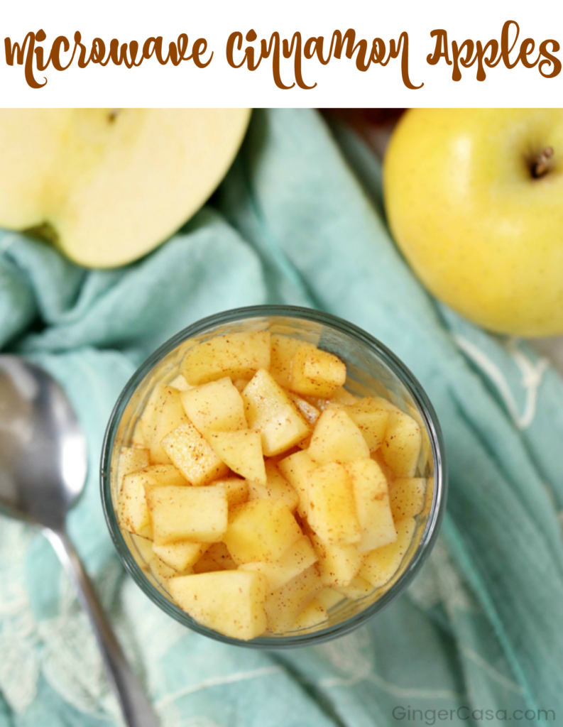 microwave cinnamon apples