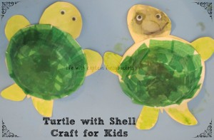 Turtle with Shell Craft for Kids