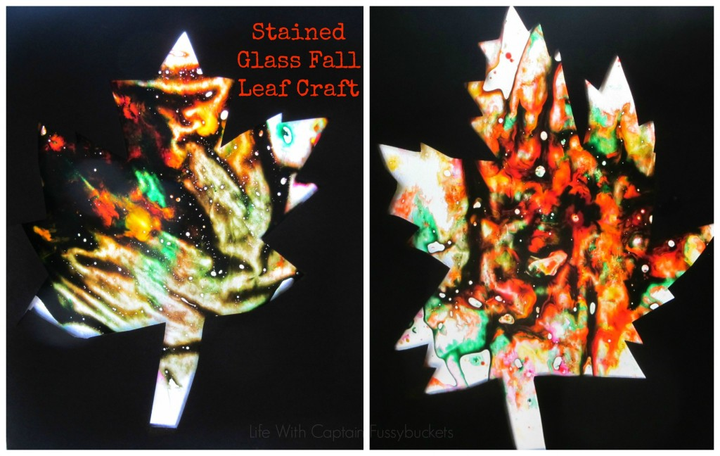 stained glass fall leaf craft