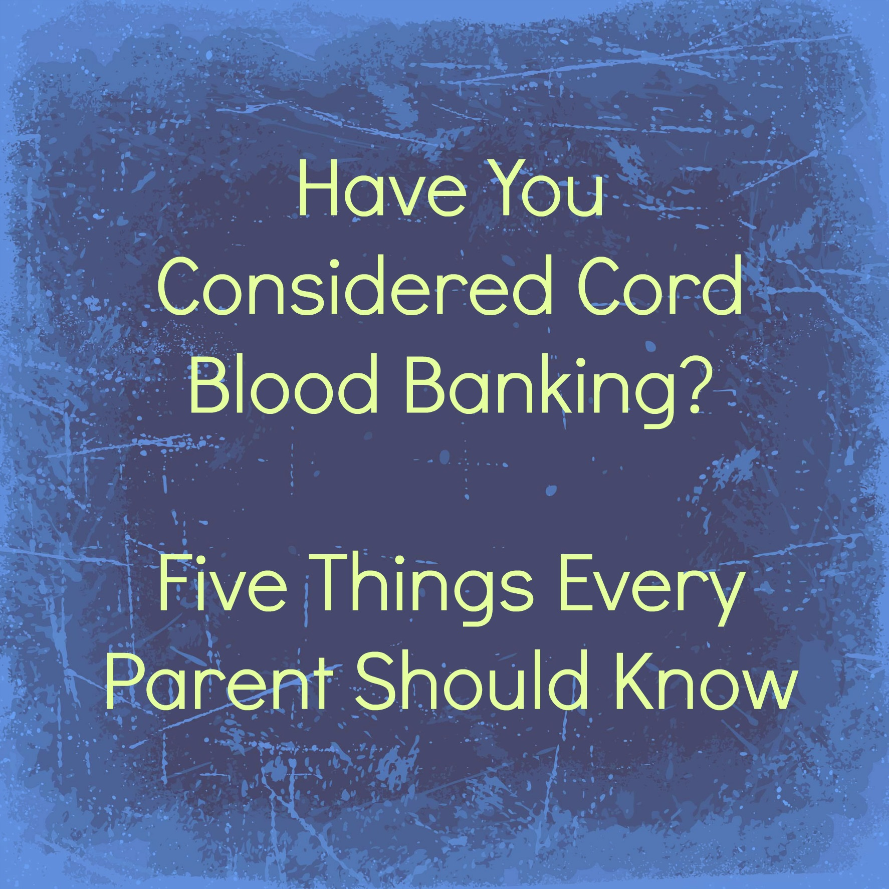 ... Cord Blood Registry. I received promotional item to thank me for my
