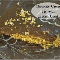 Chocolate Cream Pie with Pretzel Crust