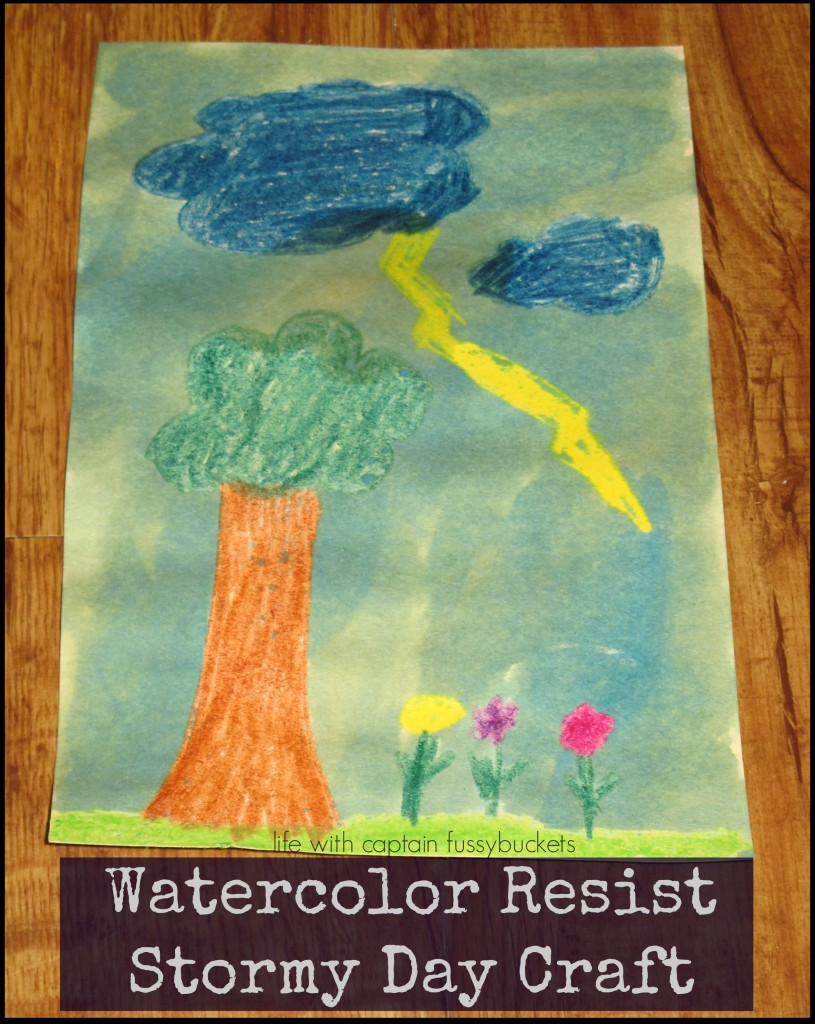 Stormy Day Craft for Kids - Life With Captain Fussybuckets