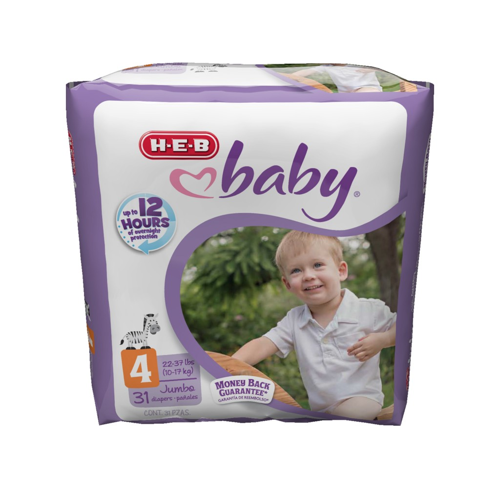 H-E-B baby diapers