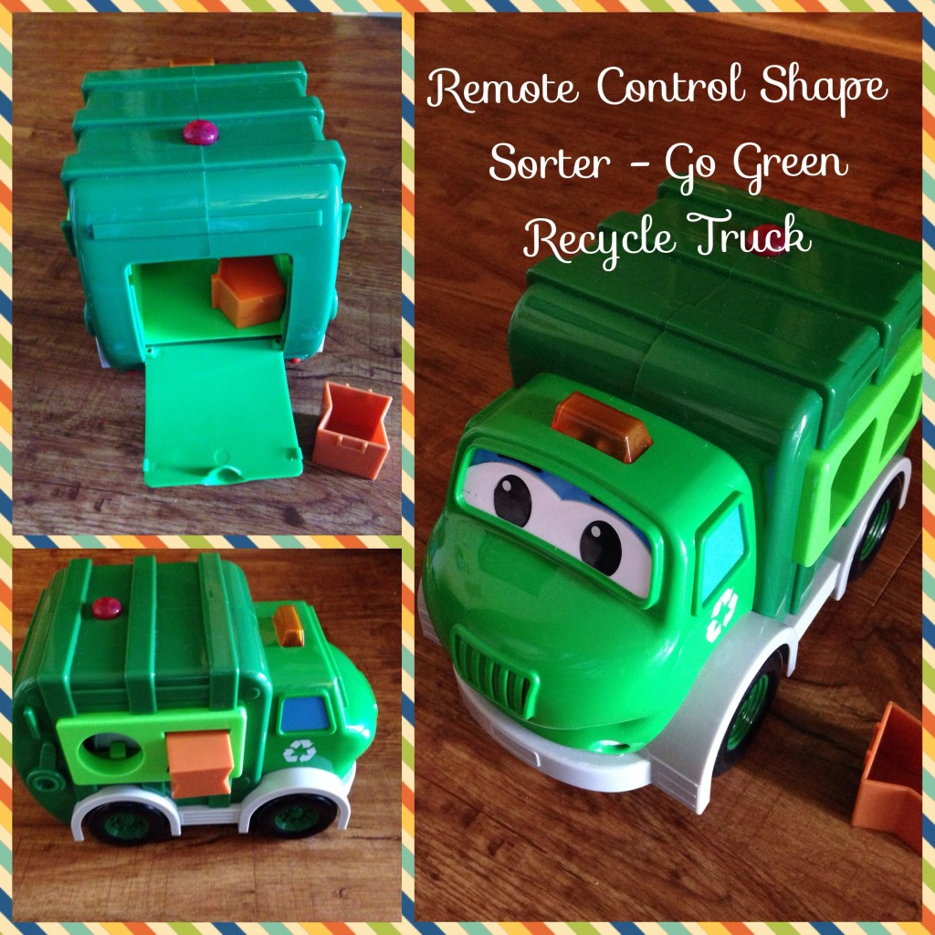 Learn to Sort with the Go Green Recycle Truck Shape Sorter