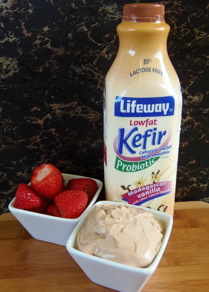 Lifeway Kefir makes a great Chocolate Cheesecake Fruit Dip!