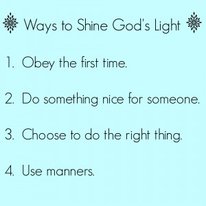 Ways to Shine God's Light
