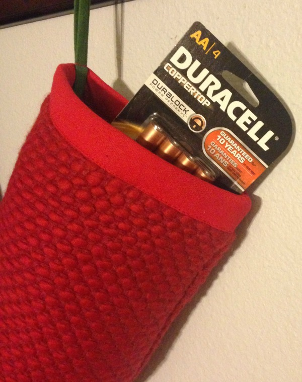 Duracell Batteries stocking stuffer