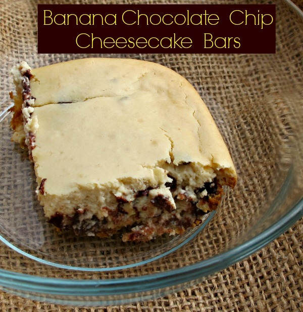 Banana Chocolate Chip Cheesecake Bars