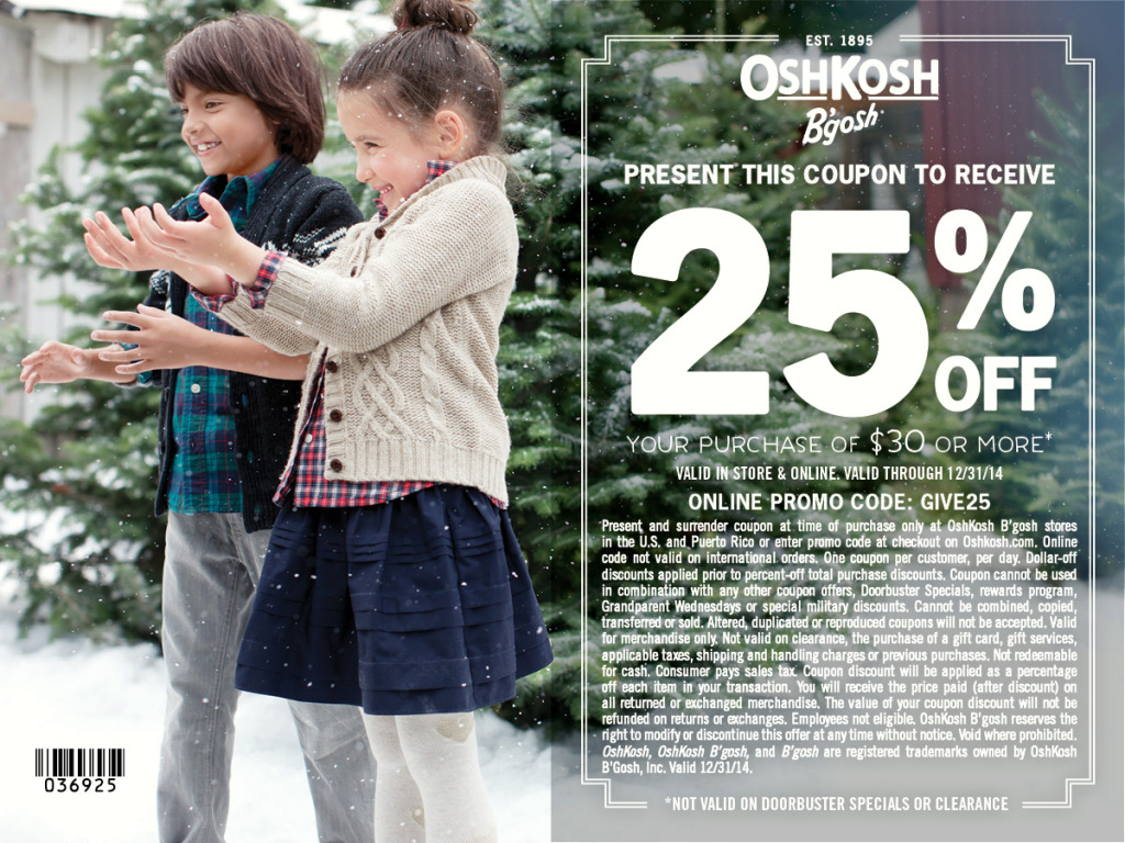 (ad) OshKosh 25% off Coupons #IC #GIVEHAPPY