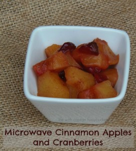 Microwave Cinnamon Apples and Cranberries