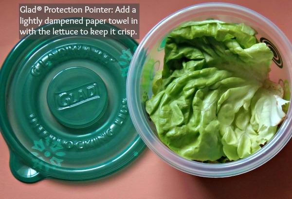 storing lettuce in fridge