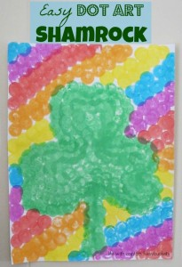 Easy Dot Art Shamrock Craft for Kids