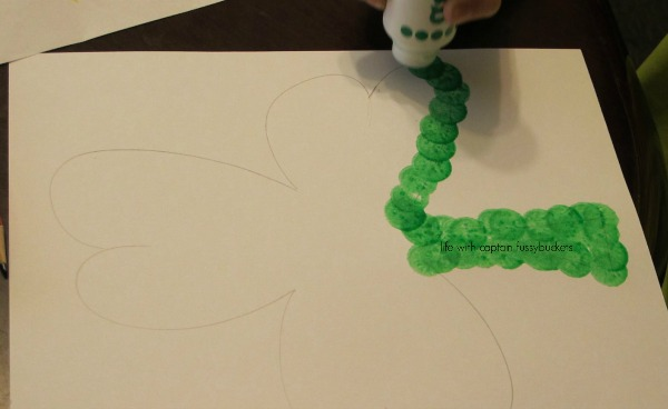 Easy Dot Art Shamrock Craft