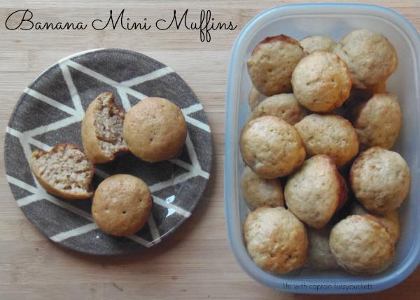 recipe for banana bread - Banana Mini Muffins