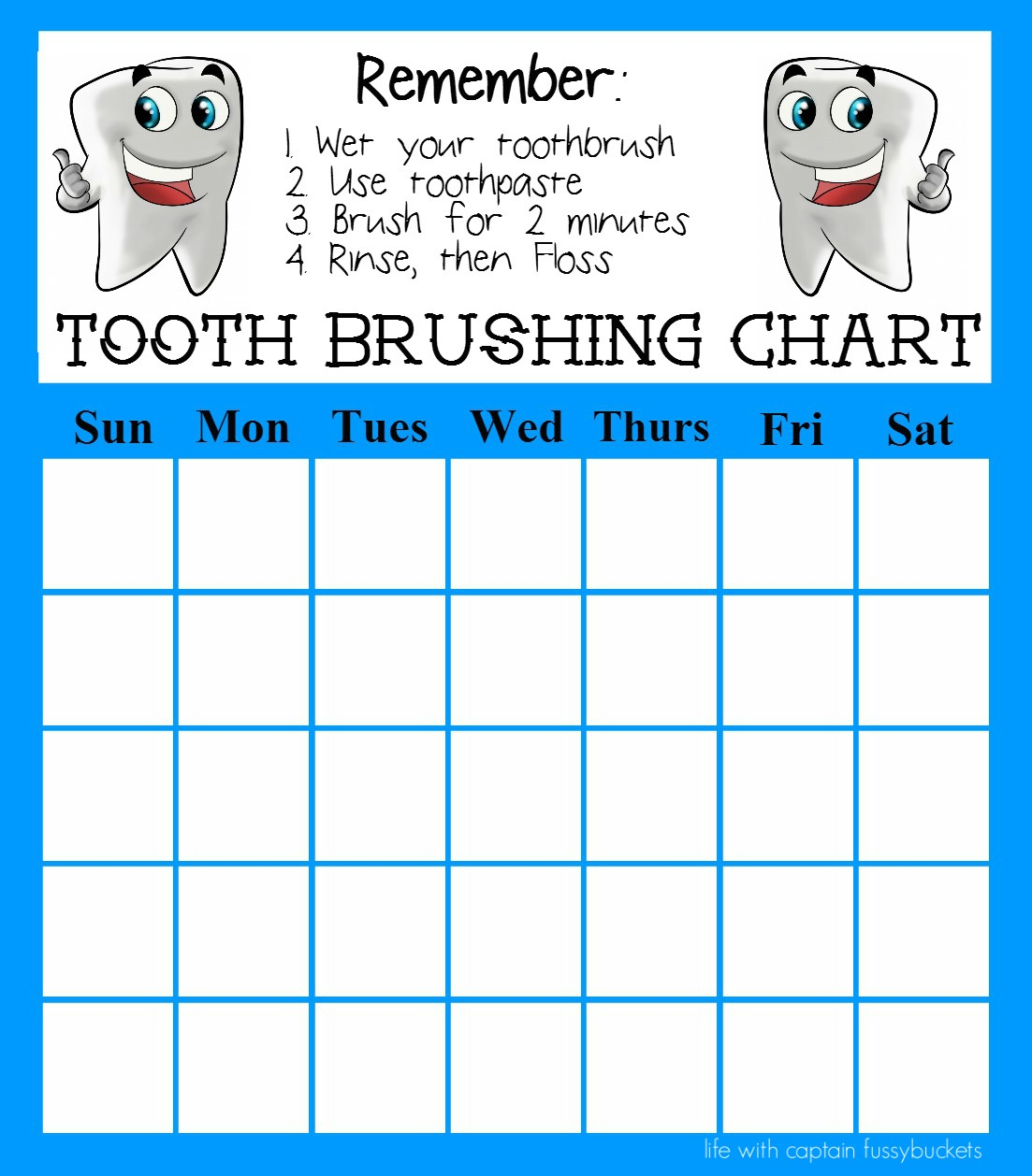 Complete tooth chart