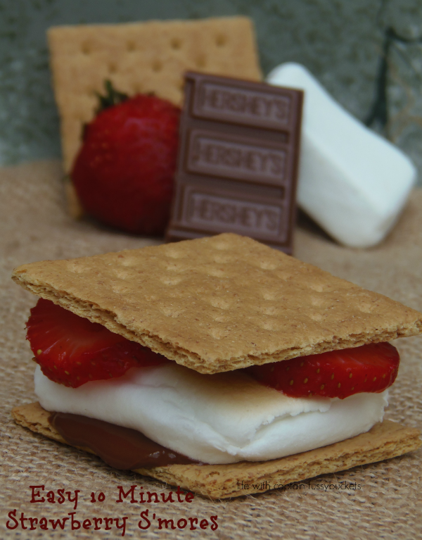 Easy 10 Minute Strawberry S'mores