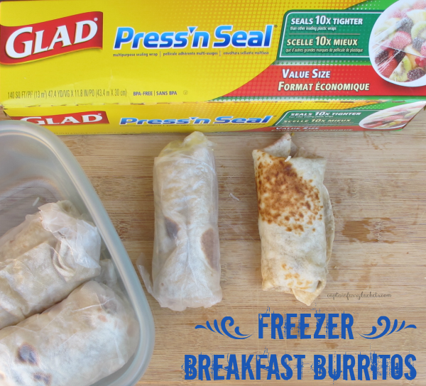 Freezer Breakfast Burritos #SAVEITSUNDAY #FoodFairyTale ad