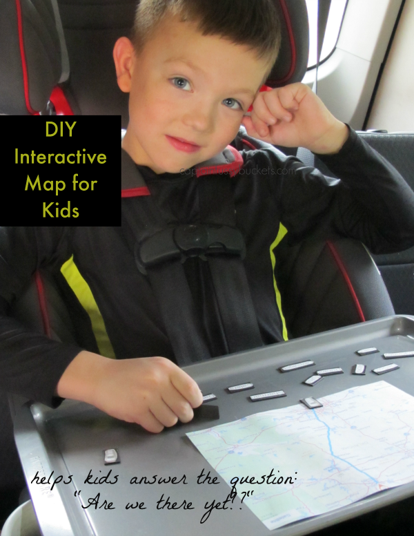 DIY Interactive Map for Kids #FuelTheLove ad