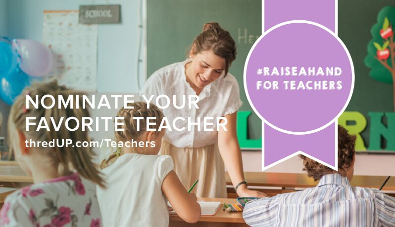 Raise A Hand For Teachers with ThredUp