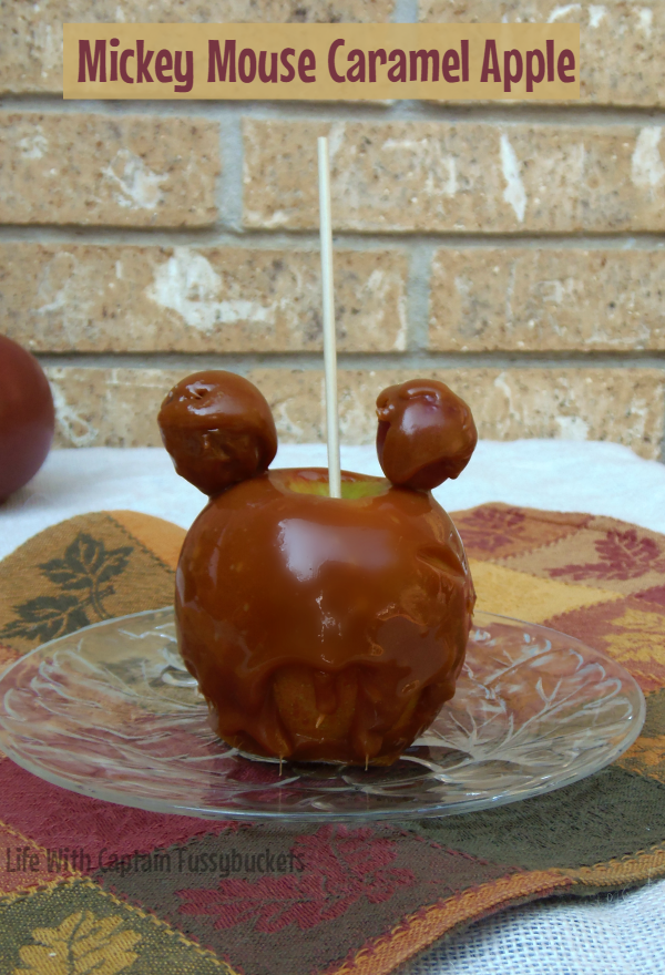 Mickey Mouse Caramel Apple
