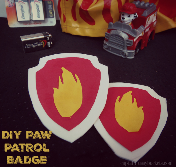DIY Paw Patrol Badge