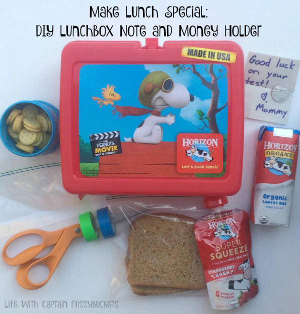 Make Lunch Special:  DIY Lunchbox Note and Money Holder
