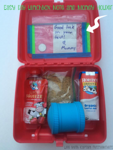 Make Lunch Special: DIY Lunchbox Note and Money Holder #HorizonLunch #collectivebias ad