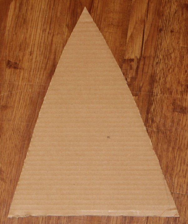 Christmas Tree Craft for Kids - cardboard triangle cutout