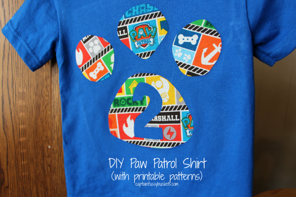 Easy Diy No Sew Paw Patrol Shirt With Free Template
