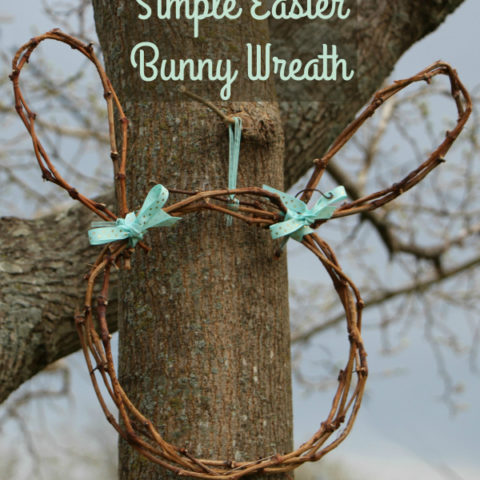 Simple Easter Bunny Wreath DIY - Made Out of Pruned Grapevines