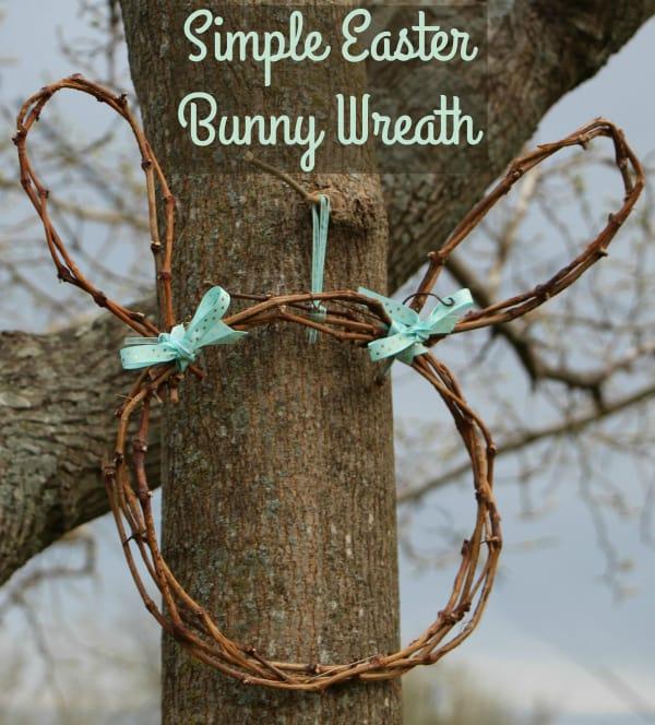 simple easter bunny wreath