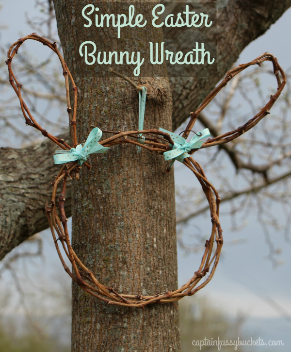 Easter Bunny Wreath DIY out of a grapevine