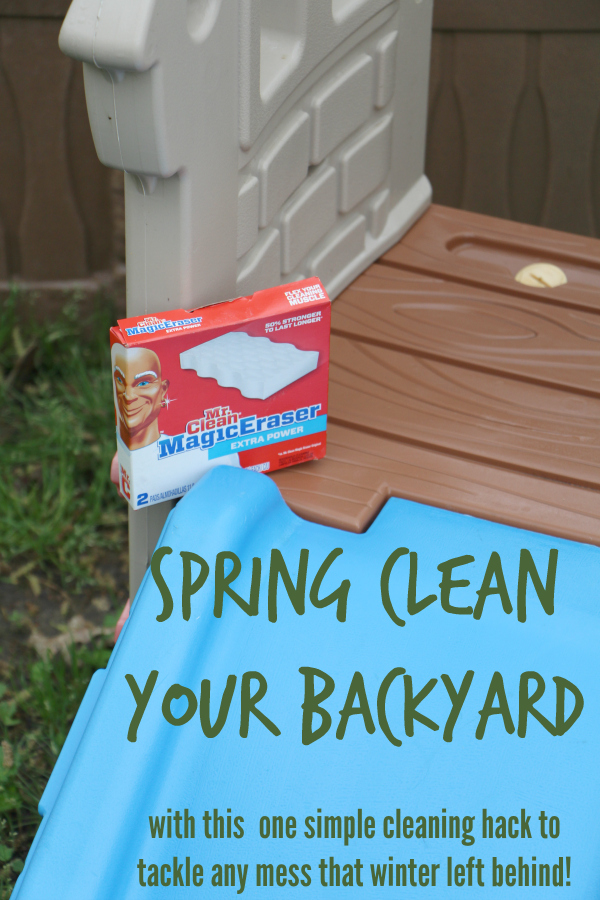spring clean your backyard