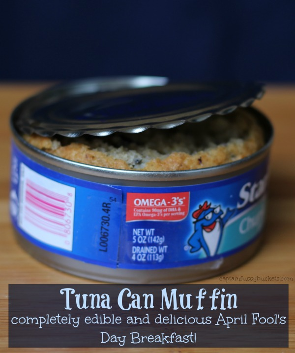 April Fool's Day Breakfast - Tuna Can Muffin