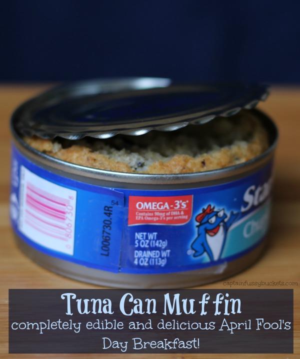 April Fool's Day Breakfast - Tuna Can Muffin