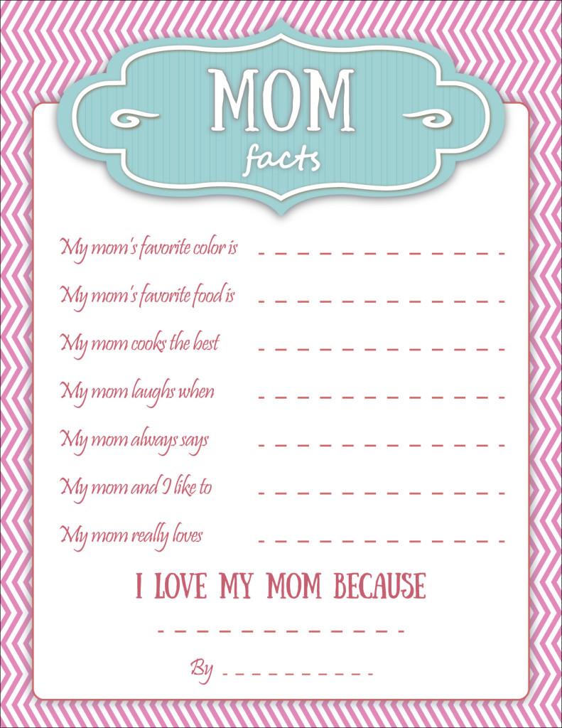 mom facts grandma facts - Fun Printables