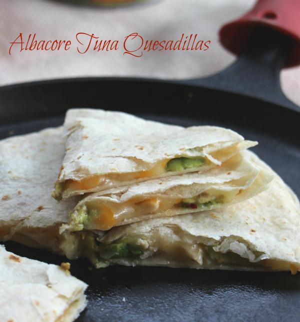 albacore tuna quesadillas