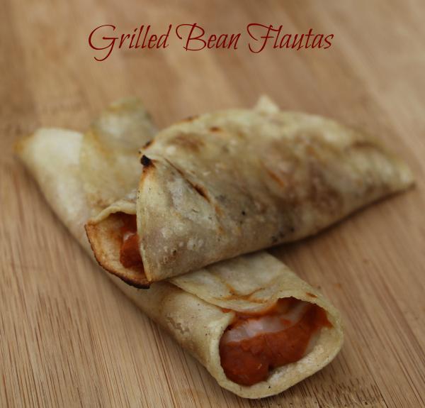 grilled bean flautas