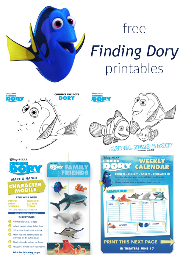 finding dory collage