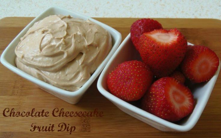 Chocolate Cheesecake Fruit Dip and Garlic Chicken Fettuccine & Kefir Sauce
