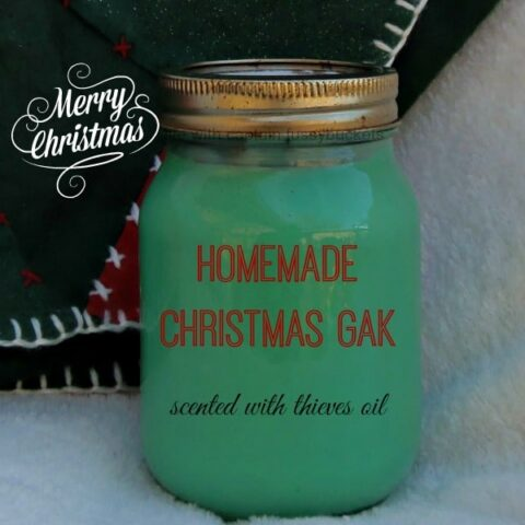 Homemade Christmas Gak Recipe (Scented With Thieves Oil)