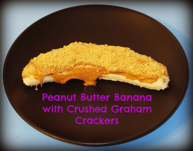 Peanut Butter Banana with Crushed Graham Crackers Snack