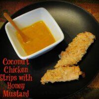 Coconut Chicken Strips with Honey Mustard