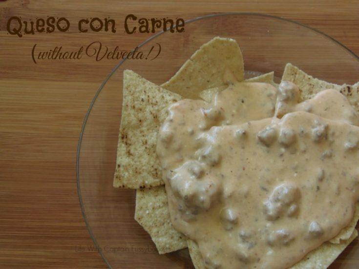 Queso con Carne (without Velveeta!)