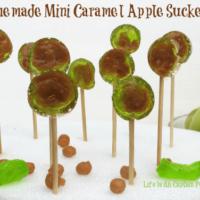 Homemade Mini Caramel Apple Suckers - A Sweet Treat for Halloween!