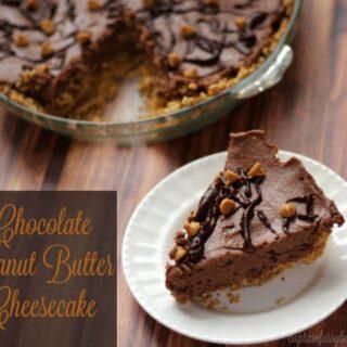 Chocolate Peanut Butter Cheesecake - No Bake, Easy to Make Dessert