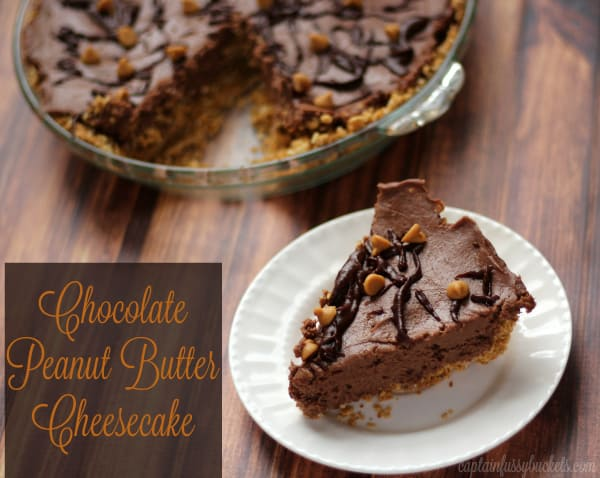 Chocolate Peanut Butter Cheesecake - No Bake, Easy to Make Dessert